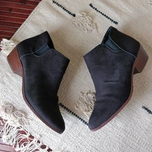 Sam Edelman Circus Black Suede Leather Booties 9.5